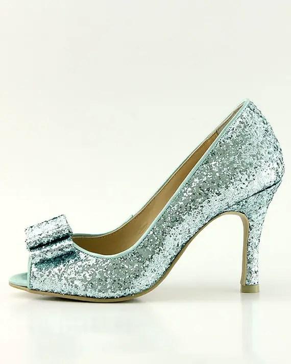 sparkly something blue heels