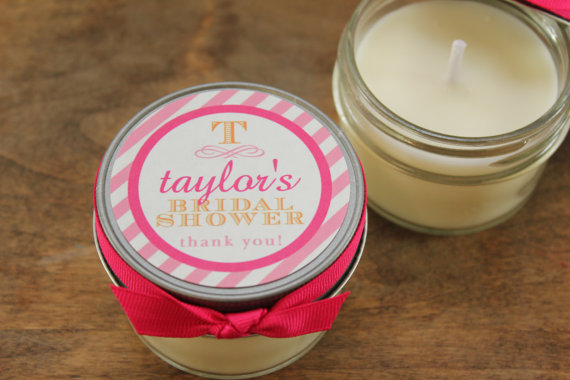 50 Best Bridal Shower Favors: soy candle favors (by lulu sugar)