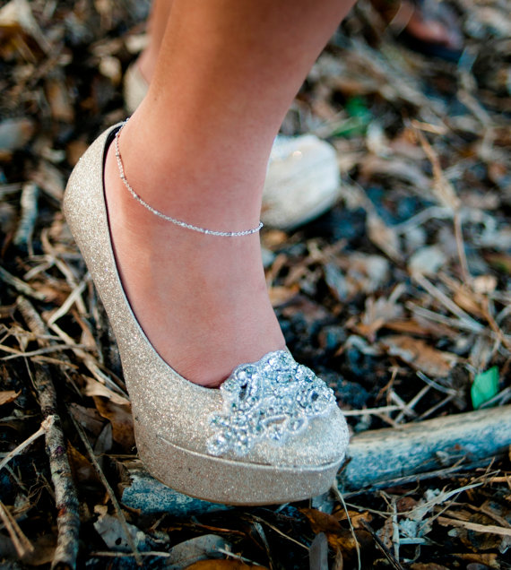 sparkly shoe clips