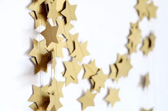 star garland wedding