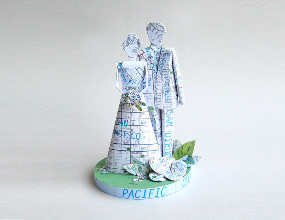 state themed wedding cake topper 1