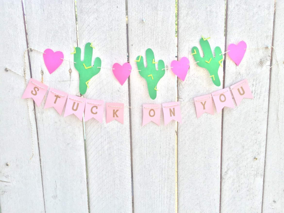 stuck on you cactus weddings banner by HandmadeCraftsByTee