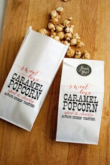 sweet love caramel popcorn favors