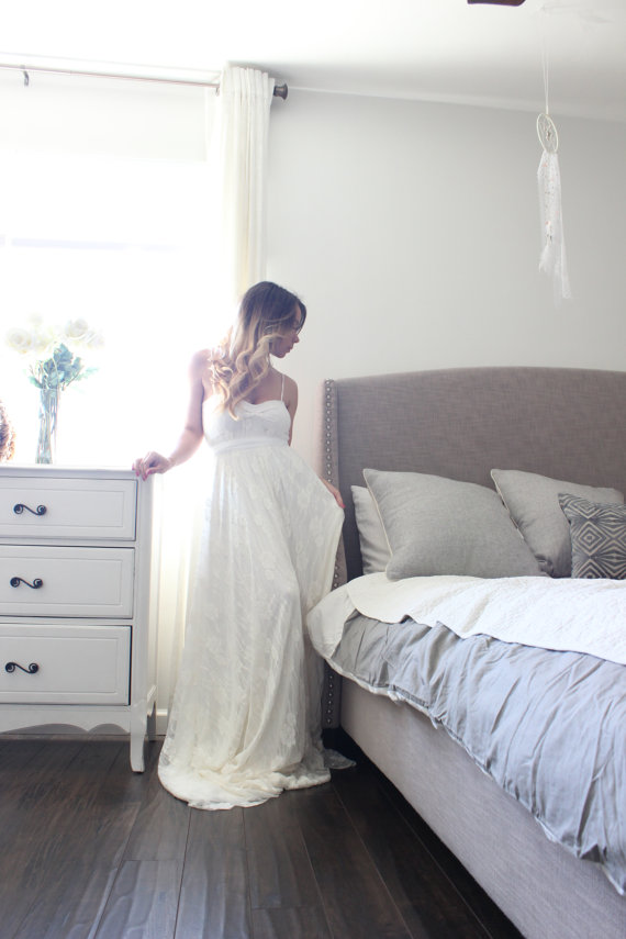 sweetheart wedding gown front