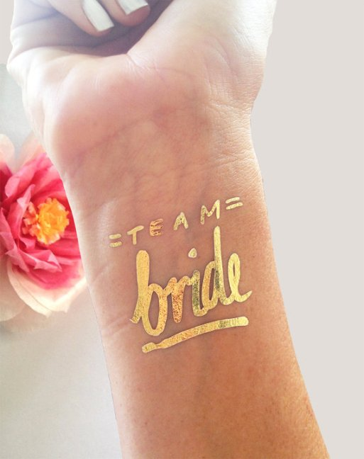 team bride tattoo