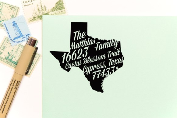 texas return address stamps etsy