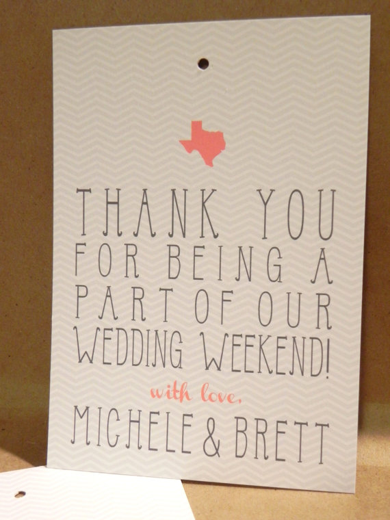 thank you card state wedding theme