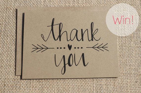 thank you cards kraft paper