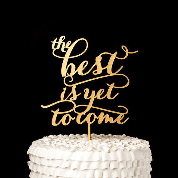 18 Chic + Ultra-Stylish Statement Cake Toppers