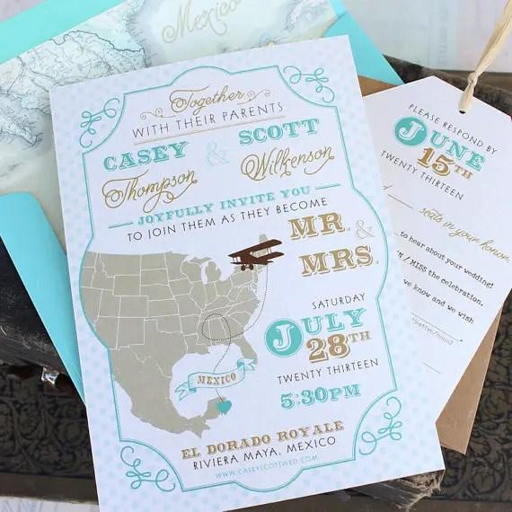 Travel Wedding Invitation by Serendipity Beyond Design