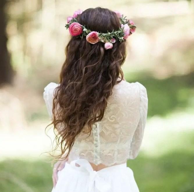 two piece crop wedding dress with skirt - by MelissaRenePrice