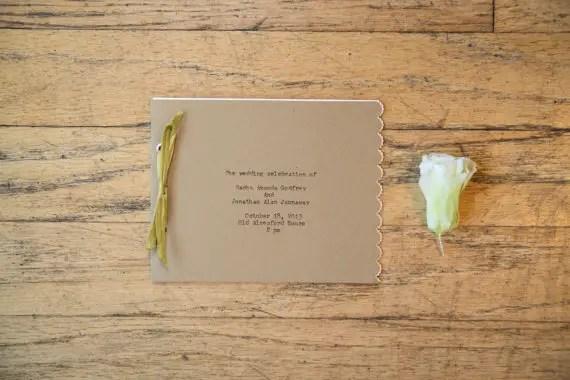 typewriter wedding program