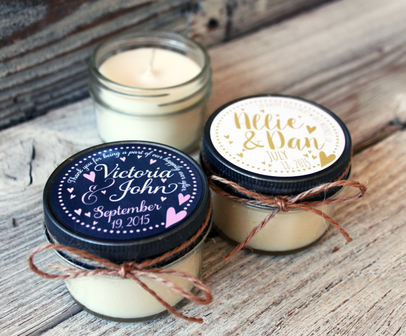 cute candle favors for wedding guests by veris candles and bath | http://emmalinebride.com/planning/scented-candles-at-wedding/