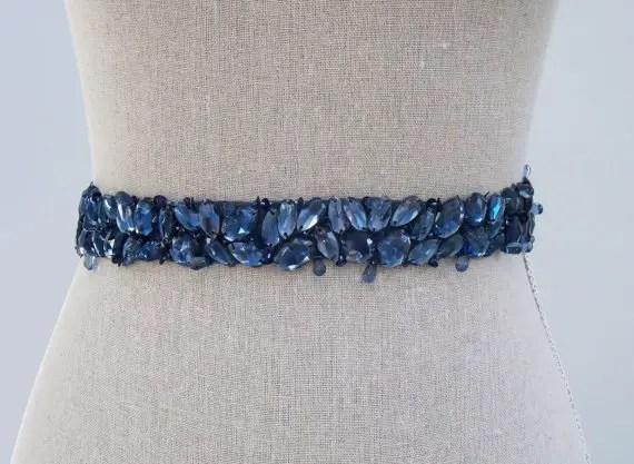 something blue dress sash