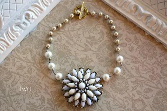 wedding pearl necklace - 2