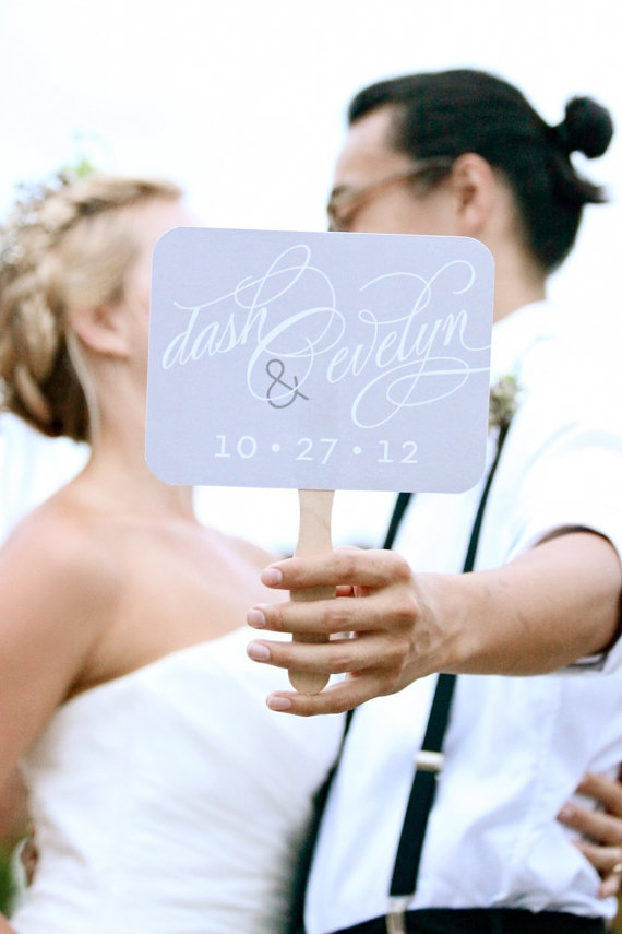 Wedding Photo Props:  Personalized Name Sign (photo by Jaime Bilbrey of Our Ampersand Photo, sign by LiddaBits via EmmalineBride.com)