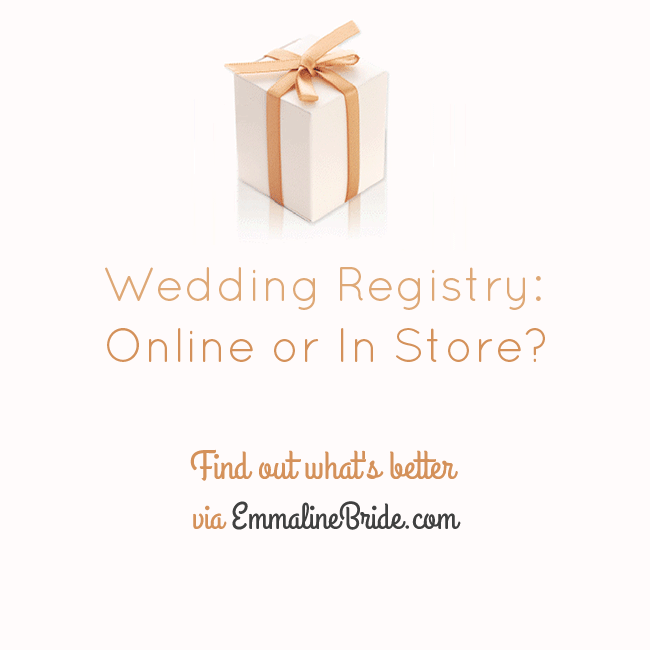 Wedding registry online or in store wedding advice for What to ask for wedding registry