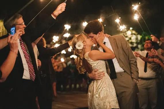 sparkler grand exit - night wedding ideas