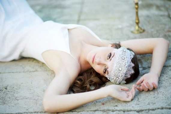 bridal cap hair wrap | 8 Alternative Wedding Veil Ideas from Tessa Kim