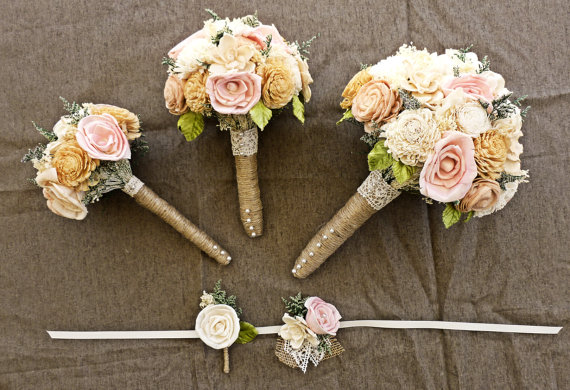 5 Ways to Save Money on Wedding Flowers (bouquet by Curious Crafts)