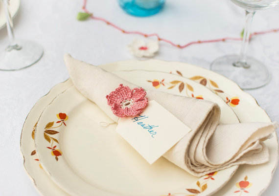 Napkin Ring Ideas for Wedding Receptions