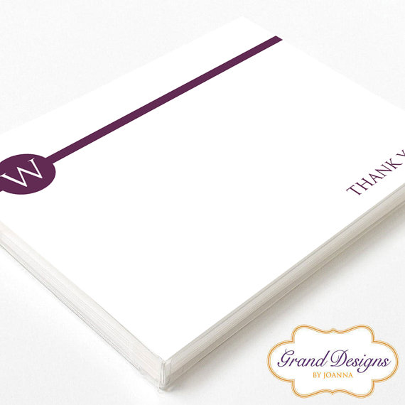 when to send thank you cards - monogram design