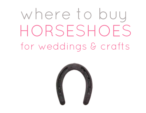 Where to buy horseshoes for wedding diy projects for Where to buy used horseshoes