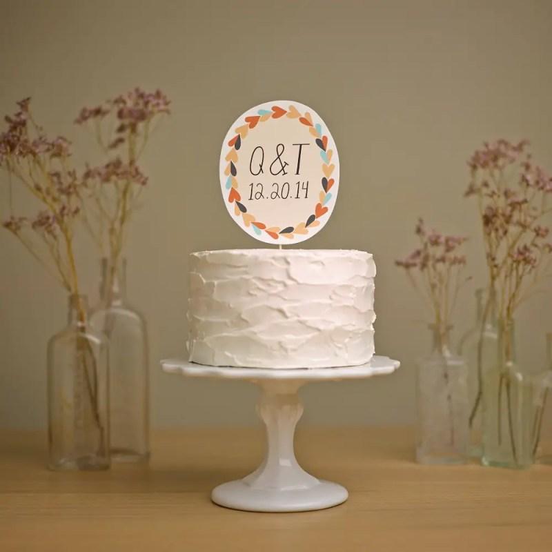 whimsical paper cake topper