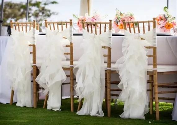 7 Stylish Wedding Chair Covers - ruffles (photo: mike sidney)