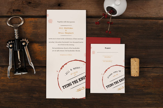 Wine Themed Wedding Invitations   Wine Themed Wedding Ideas