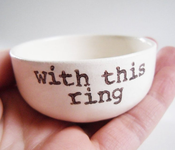 with this ring dish