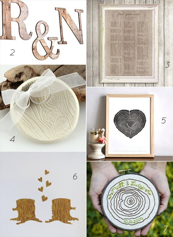 How to Plan a Wood Grain Wedding via EmmalineBride.com