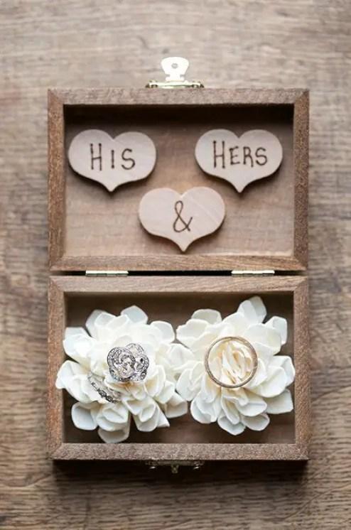 wood ring bearer box