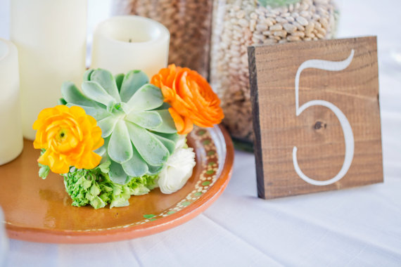 wooden wedding table numbers for weddings