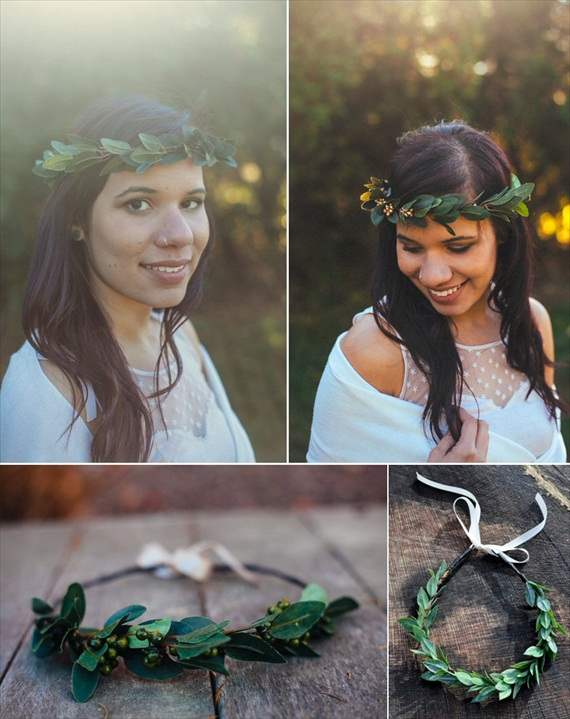 Bridal Hair Crowns - woodland