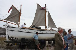 Donald Kerr (my Dad) at the Centenary of The Endurance setting sail from Plymouth