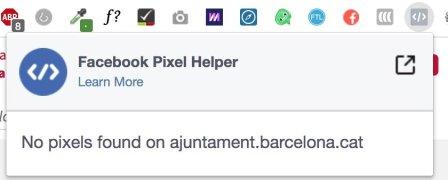 Pixel de Facebook no instalado
