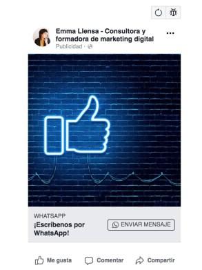 Anuncios WhatsApp Facebook Ads