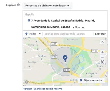 Tutorial segmentación localización Facebook Ads