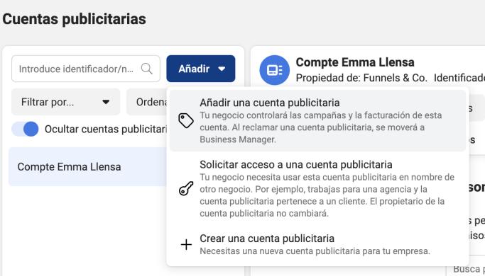 Cuenta publicitaria Facebook Business Manager