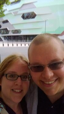 Me and Cameron outside Leeds First Direct Arena