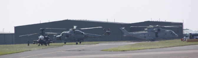 Merlin, Lynx and Apache at Waddington air show 2013