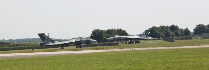 XH558 and XM607 at Waddington Air Show 2013