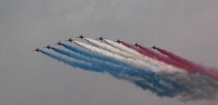 Red Arrows at Waddington Air Show 2013