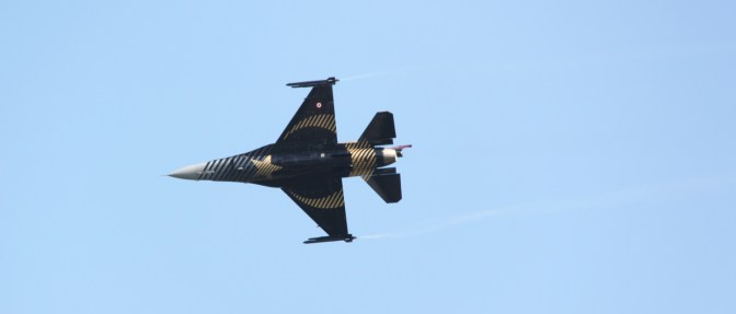 Turkish F16 at Waddington Air Show 2013