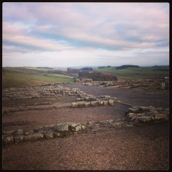 Hadrian's Wall. So peaceful.