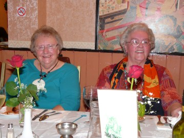 Grandma and her friend Joyce at her 80th Birthday