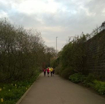 Runners at Golden Acre Park