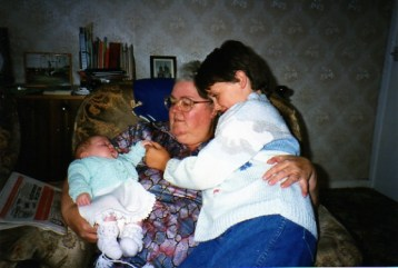 Me as a baby with Hannah and Grandma