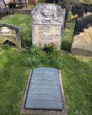 Anne Brontë's grave at the top of Scarborough